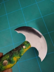 KL green stabilized handle round knife