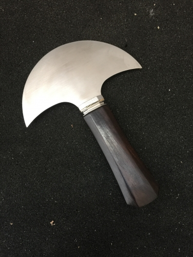 M390 steel round knife
