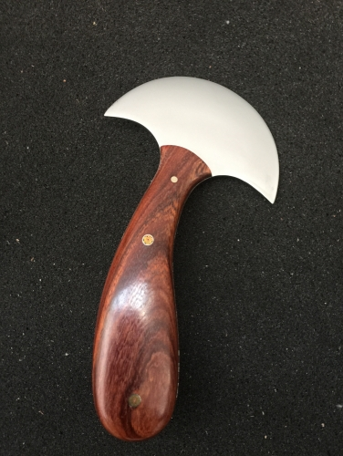 KL high polish thinner blade round knife